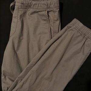 Gap Slim Twill Joggers Gray - Small